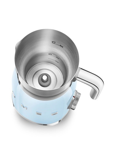 Smeg Pastel Mavı Süt Köpürtme Makinası Mavi